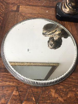 Antique footed round platform mirror for Sale in Seattle, WA