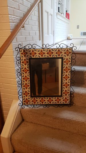 Beautiful tile wall mirror for Sale in Silver Spring, MD