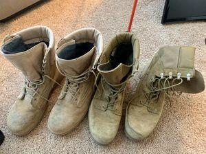 Tan Bates Boots (women's 11/men's 9.5) for Sale in Jacksonville Beach, FL
