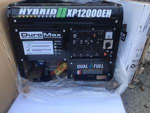 Duromax 12000/9500-Watt 18 HP Dual Fuel Powered Portable Hybrid Electric Start Gasoline / Propane Generator for Sale in El Monte, CA