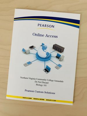 NVCC Campbell Biology 101 Pearson MasteringBiology Access Code for Sale in Alexandria, VA