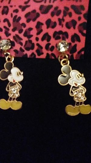 Betsey Johnson Crystal Mickey earrings for Sale in Fresno, CA