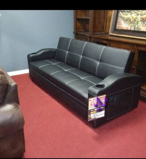 ♻️New♻️Futon Sofa Bed with Cup Holders by Crown Mark for Sale in Jessup, MD