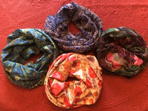 4 gorgeous scarves for Sale in Round Lake, IL