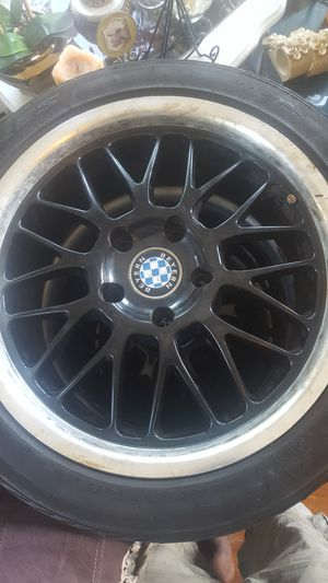Rims and tire BMW 325i whith the 4 spacers you can use for toyota honda or any 5x114 for Sale in Providence, RI