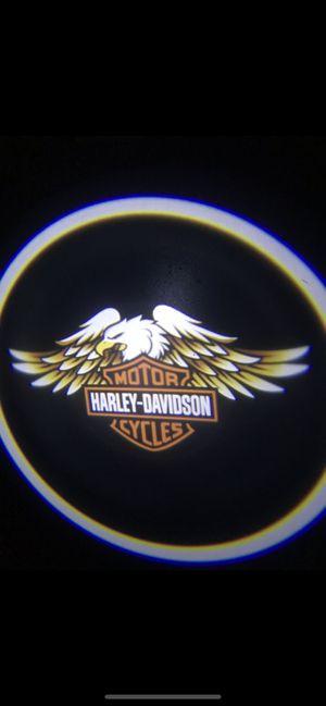 Harley Davidson car door projector lights shadow lights auto on/off aaa batteries for Sale in Long Beach, CA