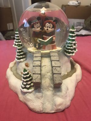 Vintage Disney Christmas Carol Mickey Minnie Snowglobe for Sale in Columbia, SC