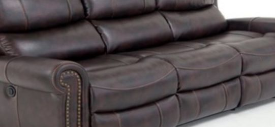 Leather Reclining Couch - Gently Used For Less Than A Year for Sale in Gloucester,  MA