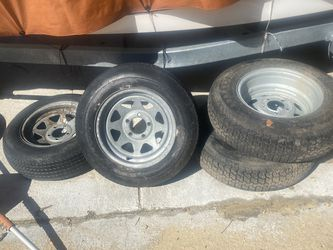 Set Of 4 Trailer Tires With Rims for Sale in Alexandria,  VA
