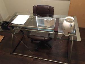 Glass Desk + Chair Combo for Sale in Keller, TX