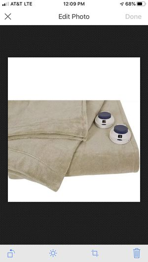 Serta Lux Plush Low-Voltage Electric Heated Micro-Fleece Blanket, Queen for Sale in Irvine, CA