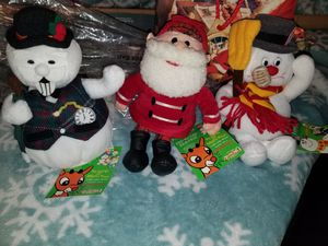 "Vintage CVS Exclusive Stuffins  ""Misfit Toys"" Christmas Plush ""Frosty"", ""Santa"", & ""Sam"" Collectibles. for Sale in Louisville, KY"