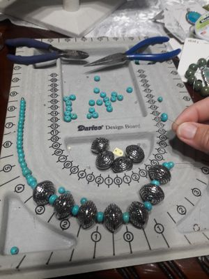Handmade necklace and earrings set for Sale in Decatur, GA