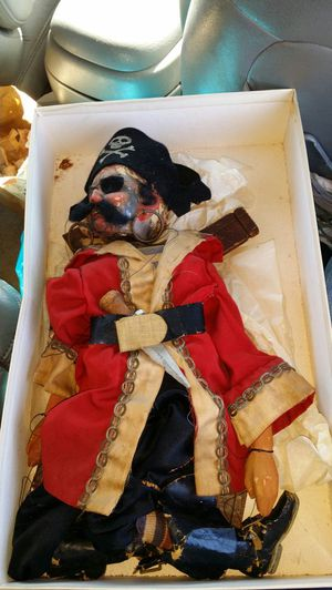 Used, Marionette pirate puppet vintage antique hand made for Sale for sale  Middletown, NJ