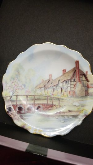 BLUE WATER ENGLISH BONE CHINA PLATE for Sale in Springfield, VA