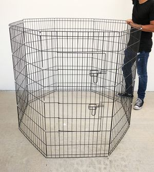 """$50 NEW Foldable 48"""" Tall x 24"""" Wide x 8-Panel Pet Playpen Dog Crate Metal Fence Exercise Cage for Sale in Pico Rivera, CA"""
