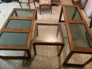 Teak Wood Glass Tables for Sale in Silver Spring, MD