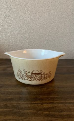 Pyrex Forest Fancies Mushrooms Casserole, 473-B, 3-cup Capacity for Sale in Highland, CA