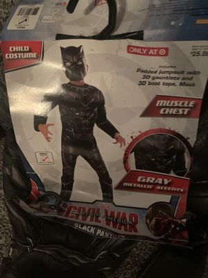 Black panther civil war captain America gray kids costume for Sale in Corona, CA