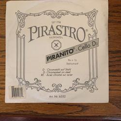 Pirastro piranito 3/4 -1/2 Cello D String New for Sale in Highland,  IL