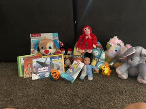 Kids toys stuffed animals and books for Sale in Arlington, TX