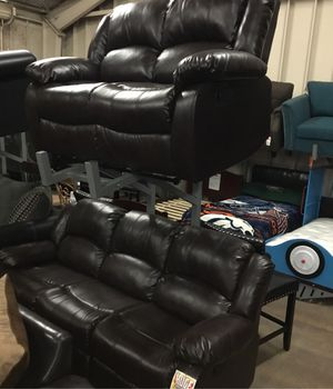 Reclining display sofa and Loveseat clearance sale for Sale in Tulare, CA