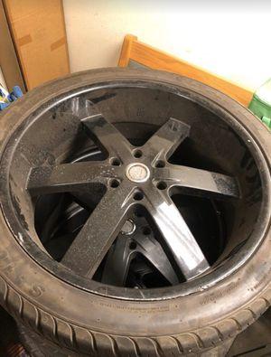 24 inch Rims Chevy Silverado for Sale in Oak Glen, CA