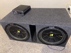 Kicker 12 inch subwoofer + Amplifier for Sale in Duncanville, TX