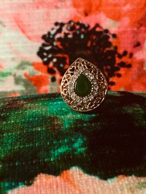 FREE Gold Style Ring Adjustable green new for Sale in Cranston, RI