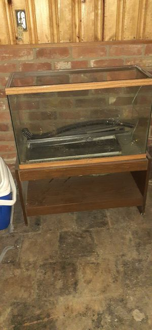 30 gallon fish tank with wood stand. for Sale in North College Hill, OH