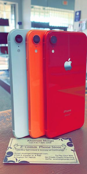 Apple iPhone XR 256Gb / 128Gb / 64Gb - Unlocked / AT AND T T-Mobile Verizon Sprint Starting @ for Sale in Arlington, TX