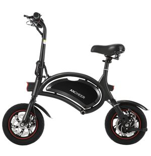 ANCHEER Folding Electric Bicycle E-Bike Scooter 350W Powerful Motor Waterproof Ebike with 15 Mile Range, Dual Disc Brakes for Sale in Odessa, FL