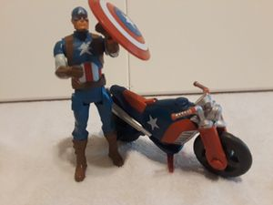 Marvel Captain America + Motorcycle for Sale in Houston, TX