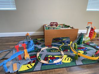 Thomas Train Sets with Table and Rug for Sale in Fontana,  CA