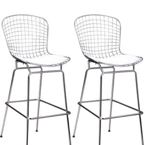 Moderns mid century chrome wire bar stools set of 4 for Sale in Miami, FL
