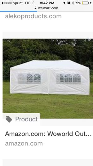 White outdoor party tent for Sale in Fresno, CA