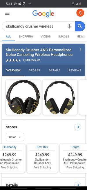 SKULLCANDY CRUSHER bluetooth headphones for Sale in Portland, OR