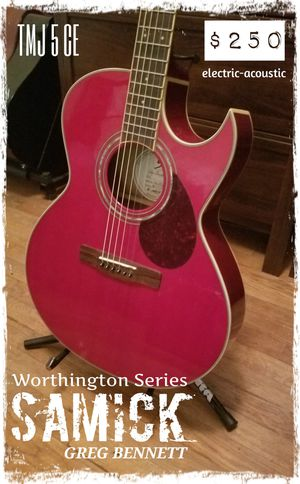 Samick Greg BENNETT acoustic electric for Sale in Sharon, MA