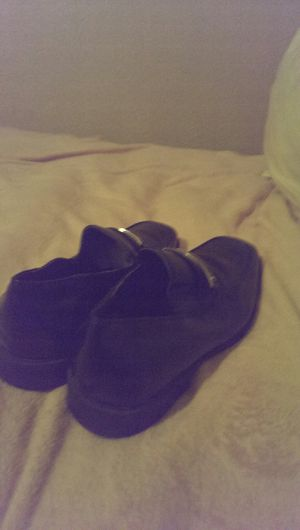 Calvin Klein black leather dress shoes size 12 for Sale in Grand Prairie, TX