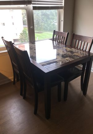Table and four chairs for Sale in Arlington, VA