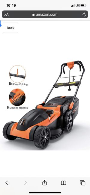 Electric Lawn Mower, TACKLIFE 16-Inch for Sale in Staten Island, NY