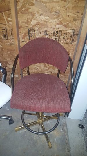 High Red Chair Bar stool No Wheels Arm Rests Courderoy for Sale in Richmond, KY