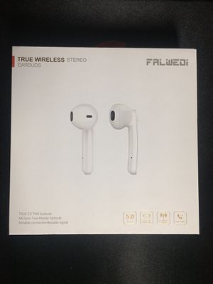Falwedi Bluetooth 5.0 True Wireless Earbuds with Charging Case for iPhone Android for Sale in Cary, NC