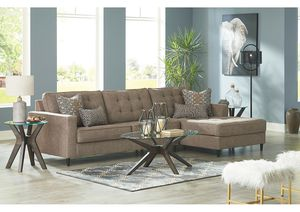 NEW IN THE BOX. FLINTSHIRE BROWN RIGHT-ARM FACING CHAISE SECTIONAL, SKU# TC25003-66-17 for Sale in Westminster, CA