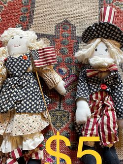 Uncle Sam and Miss Liberty dolls. Only $5 For the pair for Sale in Phoenix,  AZ
