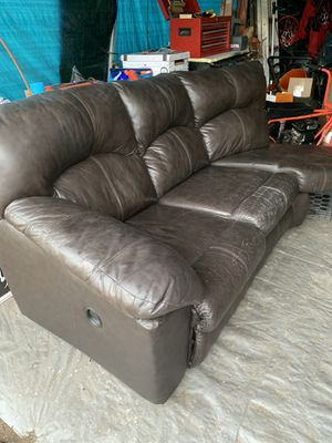 Love a sectional couch with two recliners and two lamps for Sale in Pawtucket, RI