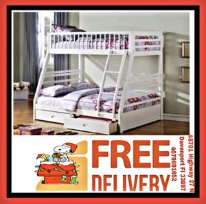 Twin Over Full BunkBed with 2 Drawers in Special Offer In Davenport for Sale in Davenport, FL