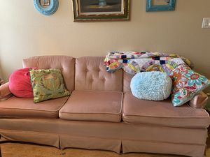 Pink couch for Sale in Englewood, CO
