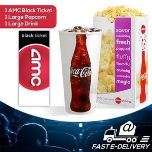 AMC Black Ticket + Large Popcorn + Large Drink for Sale in Santa Clara, CA