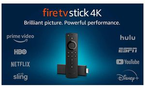Fire TV Stick 4K streaming device with Alexa built in, Dolby Vision, includes Alexa Voice Remote, latest release for Sale in Cumming, GA